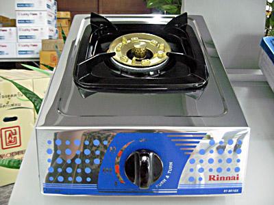 เตาแก๊สตั้งโต๊ะเดี่ยว หัวเตาทองเหลือง หน้าเตาสเตนเลส RINNAI รุ่น RT-881GX