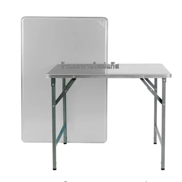 โต๊ะพับสเตนเลส ขาเหล็กแบบสวิง ขนาด 115 ซม