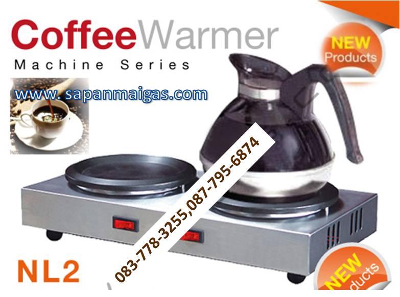 เครื่องอุ่นกาแฟ 2 ถาดเทฟลอน รุ่น NL-2 อุ่นให้ร้อนได้ตลอดเวลา ไม่เปลืองไฟ