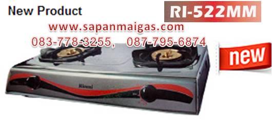 เตาแก๊สตั้งโต๊ะ 2 หัว Rinnai(รินไน) รุ่น RI-522MM (NEW)