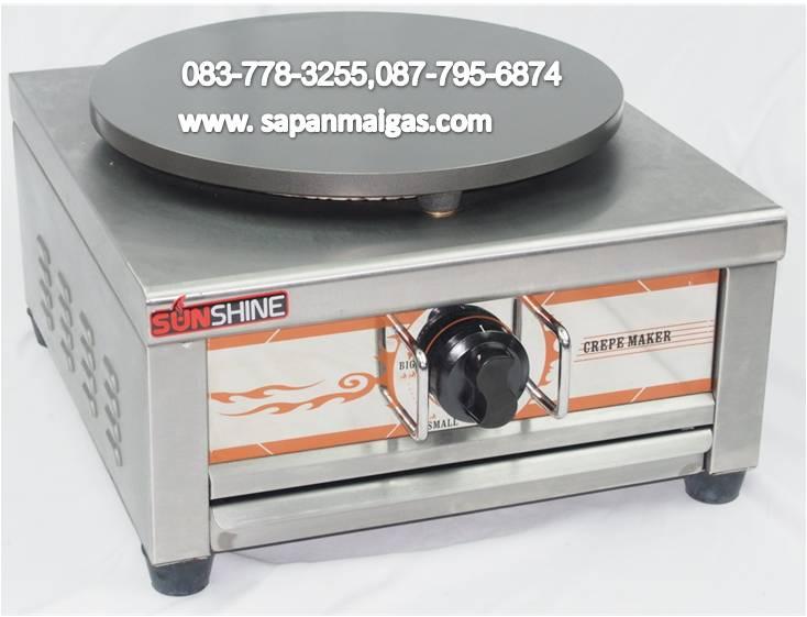เตาเครป แบบใช้แก๊ส 1 หัว ขนาดเตา 16 นิ้ว (1 ถาด) รุ่น SH-GCM71