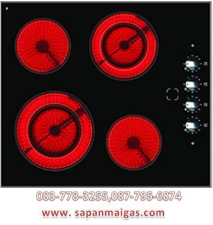 เตาฝังหัวเตาเซรามิค 4 หัวเตา ยี่ห้อ eve รุ่น HB60-2VC2DVC/M