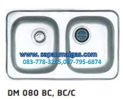 ซิ้งค์ล้างจานฝัง 2 หลุม รุ่น DM 080 BC