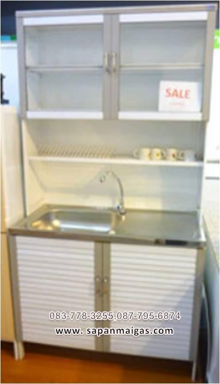 ตู้ซิ้งล้างจานพร้อมตู้เก็บของ ขนาด 1 เมตร ทรงสูง รุ่น LA101