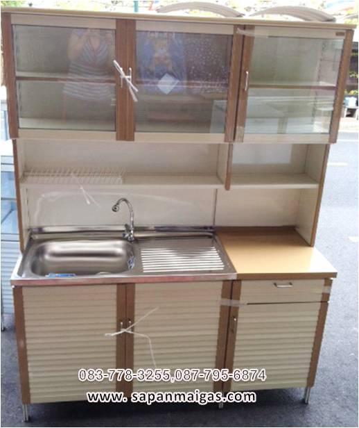 ตู้ซิ้งล้างจาน พร้อมตู้เก็บของ แบบทรงสูง ขนาด 1.5 ม  รุ่น LA150