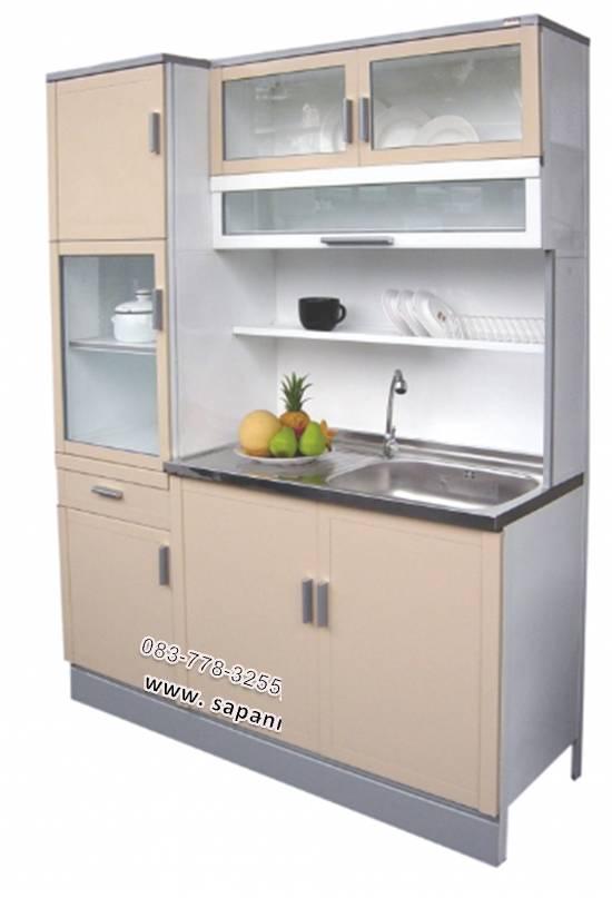 ตู้ครัวอ่างพร้อมตู้กับข้าวทรงสูง ขนาด 1.50 ม. รุ่น MP3-125JS