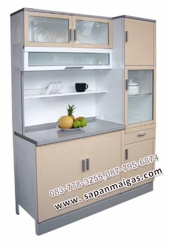 ตู้ครัวหน้าเรียบพร้อมตู้กับข้าวทรงสูง ขนาด 1.50 ม. รุ่น MP3-125DP