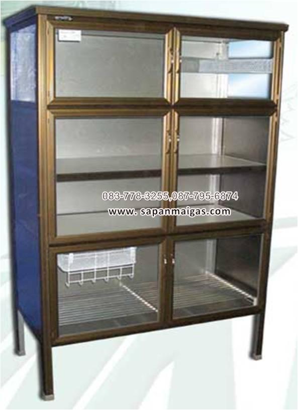 ตู้กับข้าวอย่างดี ขนาด 4 ฟุต สีชา ยี่ห้อ SANKI (รุ่น SKS 40A)