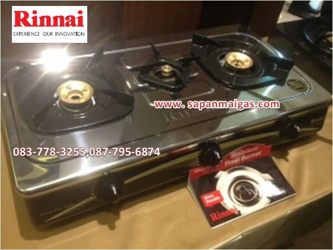 เตาแก๊สตั้งโต๊ะ 3 หัวเตา รินไน(RINNAI) รุ่น RI-603E