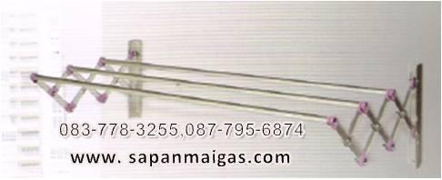 ราวตากผ้าอลูมิเนียมแบบติดผนัง ยี่ห้อ ซันกิ (SANKI) ขนาด 100 ซม