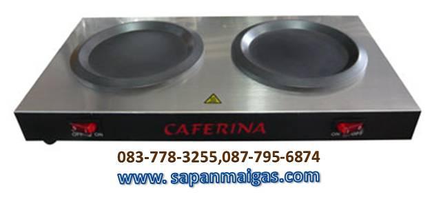เตาอุ่นกาแฟ 2 ถาด caferina หน้าเตาสแตนเลส