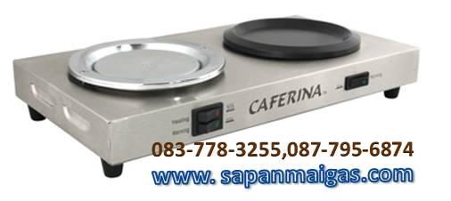 เตาอุ่นกาแฟ 2 ถาด caferina  ถาดเทปลอน+ถาดสแตนเลส