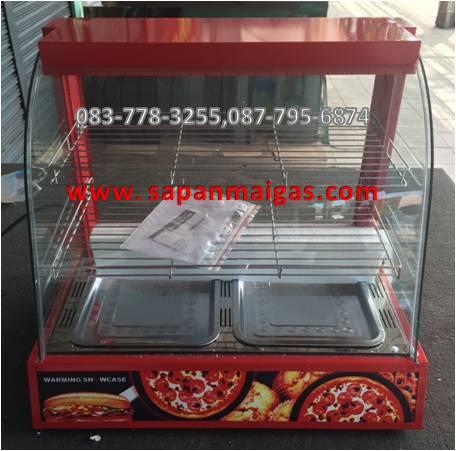 ตู้อุ่นอาหาร 2 ชั้น สีแดง ขนาด 60 ซม.