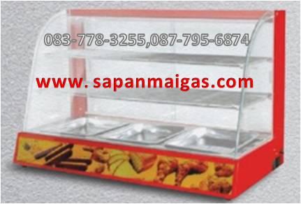 ตู้อุ่นอาหาร 2 ชั้น สีแดง ขนาด 90 ซม