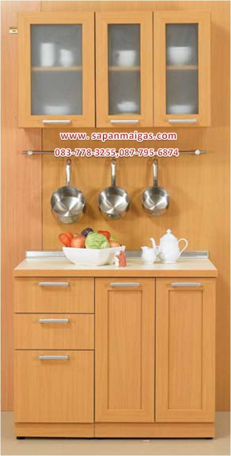 ชุดครัว MODERN KIT 100 CM.สีบีช