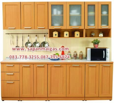 ชุดครัว MODERN KIT 240 CM.สีบีช
