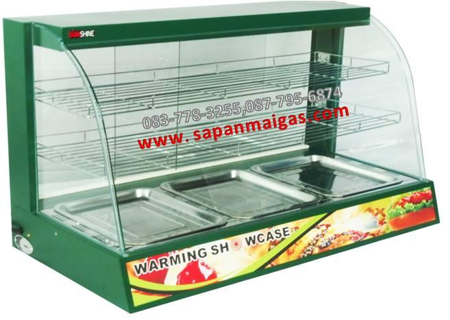 ตู้โชว์อุ่นอาหาร 2 ชั้น ขนาด 90 ซม ยี่ห้อซันชายน์