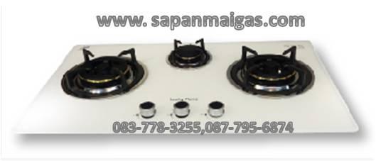 เตาแก๊สแบบฝังเคาน์เตอร์ 3 หัวเตา ลัคกี้เฟลมรุ่น LGS-913W