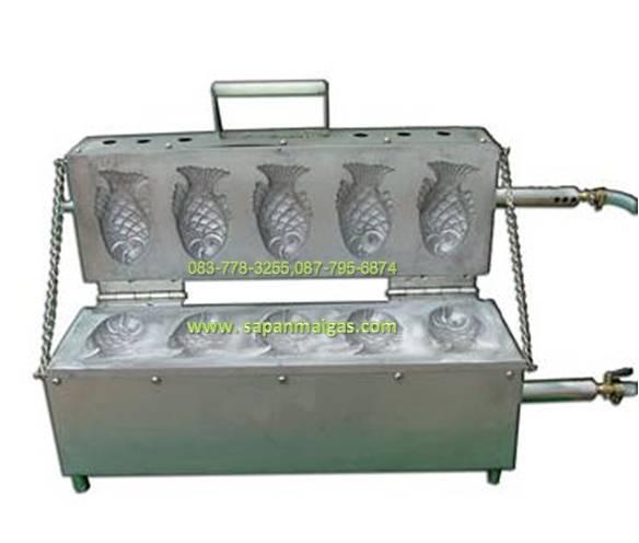 เตาวาฟเฟิลรูปปลา (แก๊ส) 5ตัว Fish Shape cooker