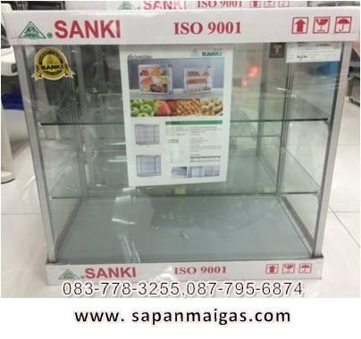 ตู้กระจก 3 ชั้น ยี่ห้อ ซันกิ ขนาด 50 ซม