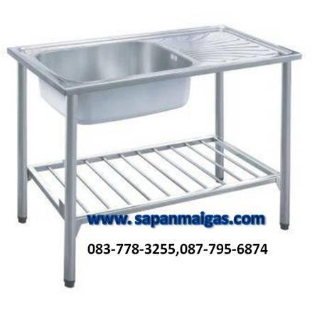 ซิ้งค์ล้างจาน 1 หลุมพร้อมขาตั้ง ขนาด 100 ซม.  ยี่ห้อ eve รุ่น ALPHA