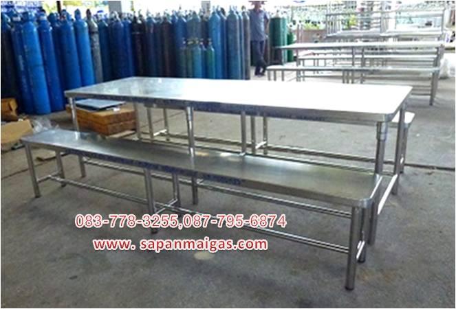 โต๊ะสแตนเลส พร้อมเก้าอี ,โต๊ะโรงอาหาร,  เหมาะสำหรับโรงอาหาร โรงเรียน