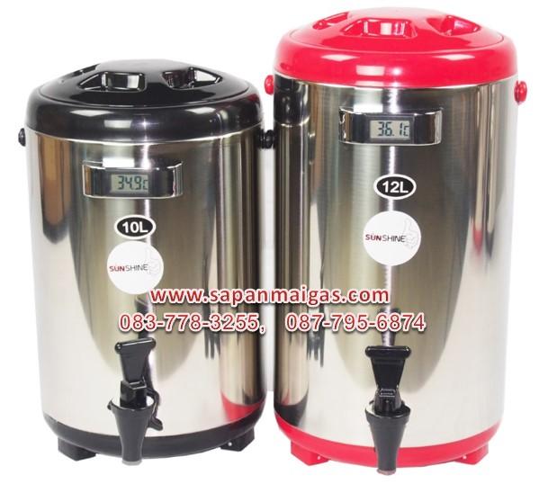 ถังเก็บน้ำชา ถังพักชา สแตนเลส ขนาด 12ลิตร SH-T12L