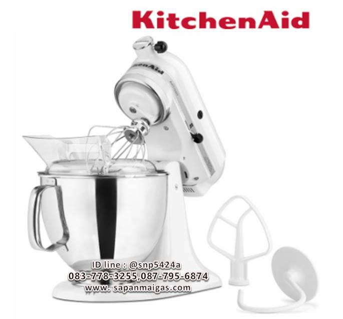 KitchenAid เครื่องผสมอาหารแบบยกหัว ขนาด 5 ควอทซ์ สีขาว