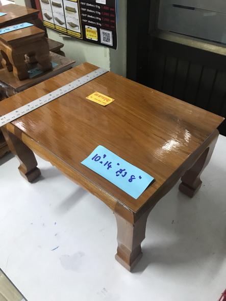 ตั่งไม้ โต๊ะยอดขนาดต่างๆ ฐานรองพระ ทำจากไม้สัก ( หน่วยเป็นนิ้ว ) 6