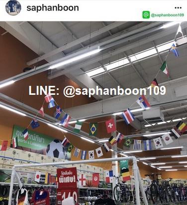 ธงราวนานาชาติ ธงราวยูโร และ ธงราวอาเซี่ยน งานผ้าร่ม สวยและทน งานดิจิตอล 5