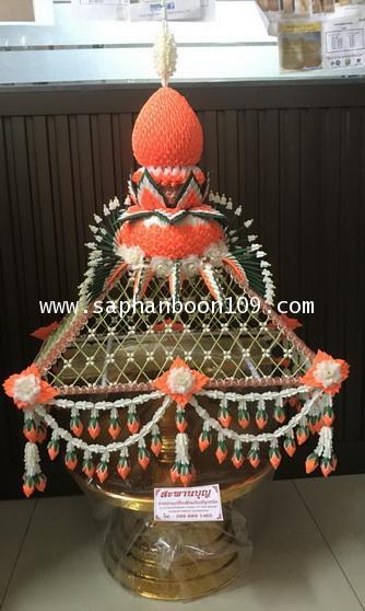 ครอบไตรหัวพุ่ม ชาววัง ร้อยดอกพุดดินญี่ปุ่น  มี7 สีวันเกิดและสีทอง ครอบไตรทรงพุ่ม 3