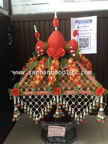 ครอบไตรหัวพุ่ม ชาววัง ร้อยดอกพุดดินญี่ปุ่น  มี7 สีวันเกิดและสีทอง ครอบไตรทรงพุ่ม 5