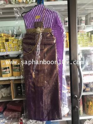 ชุดไทยแก้บน หลายสี ชุดไทยไม้แขวน 2