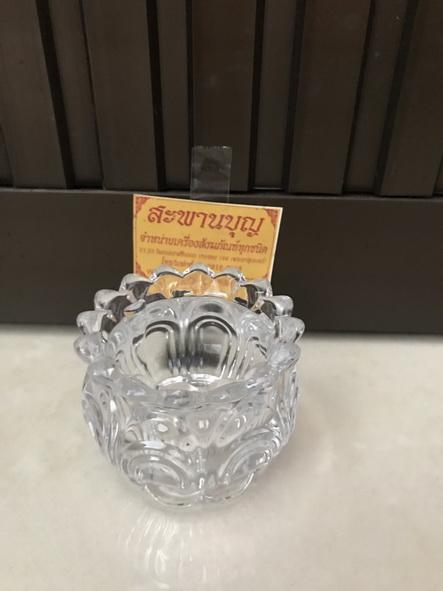 จัดชุดเซ็ท - แจกันแก้ว  กระถางธูป เชิงเทียนแก้วคริสตัล รุ่นใหญ่ 6