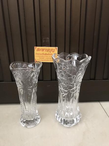 จัดชุดเซ็ท - แจกันแก้ว  กระถางธูป เชิงเทียนแก้วคริสตัล รุ่นใหญ่ 9