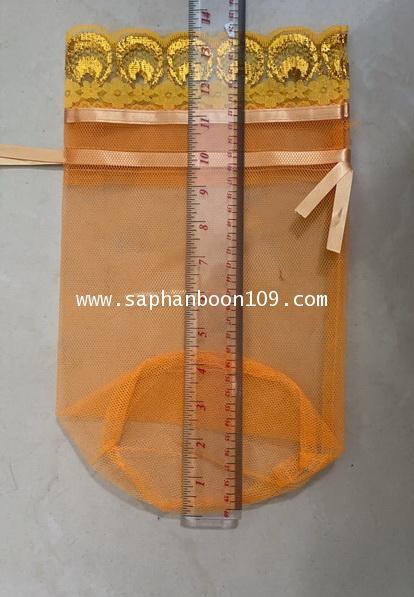 8*12 นิ้ว ถุงตาข่าย สำหรับใส่บาตร ถุงสังฆทาน  ตักบาตร โบรูดในตัว 8*12 นิ้ว 1