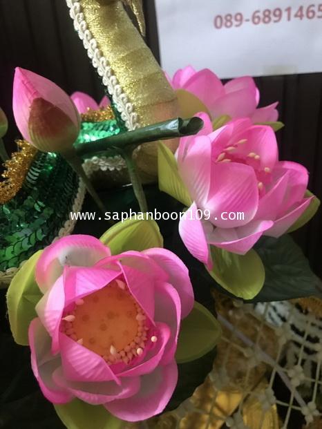 ครอบไตรพญานาค งานดอกพุดดิน ล้อมดอกบัวชมพู สวยงาม 3