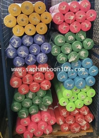 ผ้าแพรรุ่นม้วนใหญ่ ( ผ้าเยื่อไม้ ) 70 หลา กว้าง 36 นิ้ว ผ้าสีผูกศาล 1