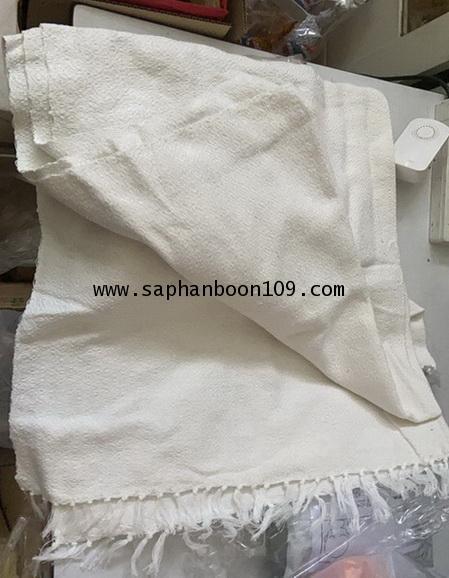 ผ้าห่มฝ้ายทอมือสีขาว ( รุ่นนี้ หนา หนัก )  ผ้าฝ้าย ( กันหนาวแม่ชี  ) 2