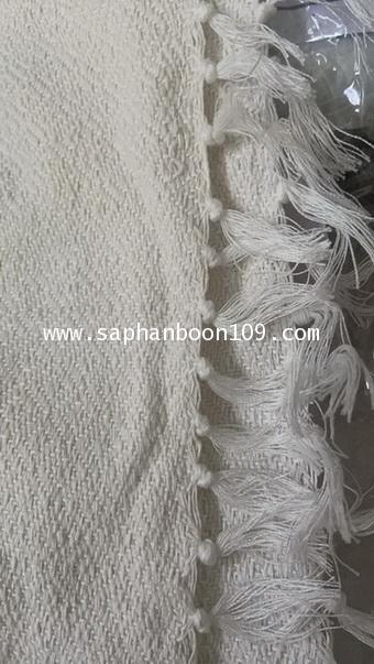 ผ้าห่มฝ้ายทอมือสีขาว ( รุ่นนี้ หนา หนัก )  ผ้าฝ้าย ( กันหนาวแม่ชี  ) 4