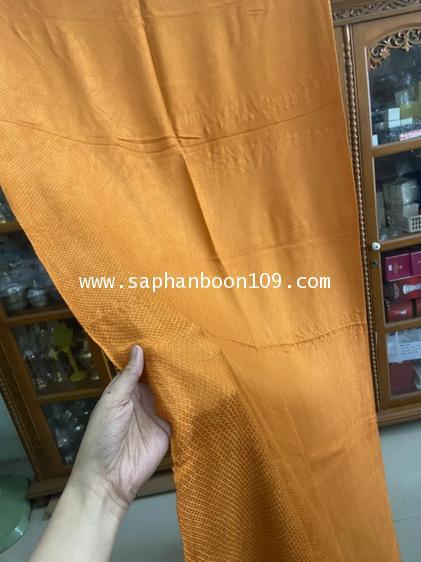 ผ้าคลุมไหล่ ผ้าคลุมบ่าพระสงฆ์ สีพระราชทาน ใช้เป็นผ้าห่มได้  ( ผ้าฝ้าย ) 5