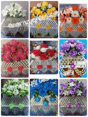 ครอบไตรธรรมดา งานเพิ่มดอกไม้แน่นๆ งานพิเศษ ครอบไตรบัวดอกไม้แน่น