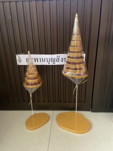 ฉัตรแป้น  สำหรับวางพระพุทธรูป ( ถอดแยกชิ้นไม่ได้ )