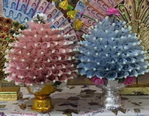 พานรัฐธรรมนูญพลาสติก ( พานลาว ) ( พานกะไหล่พลาสติก ) พานเงินพานทอง พานพลาสติก 4