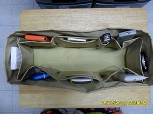 ช่องจัดระเบียบกระเป๋า Longchamp/cabas (สีเบจ)