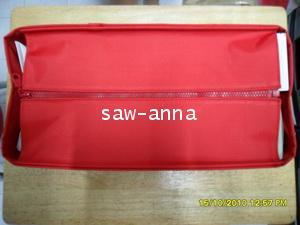 ช่องจัดระเบียบกระเป๋าLv/neverfull mm แบบมีซิป สีแดง