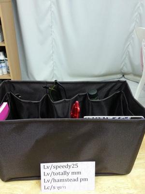 ช่องจัดระเบียบกระเป๋า Lv/speedy 25 (สีน้ำตาลเข้ม) (ราคานี้ยังไม่รวมค่าส่งค่ะ)