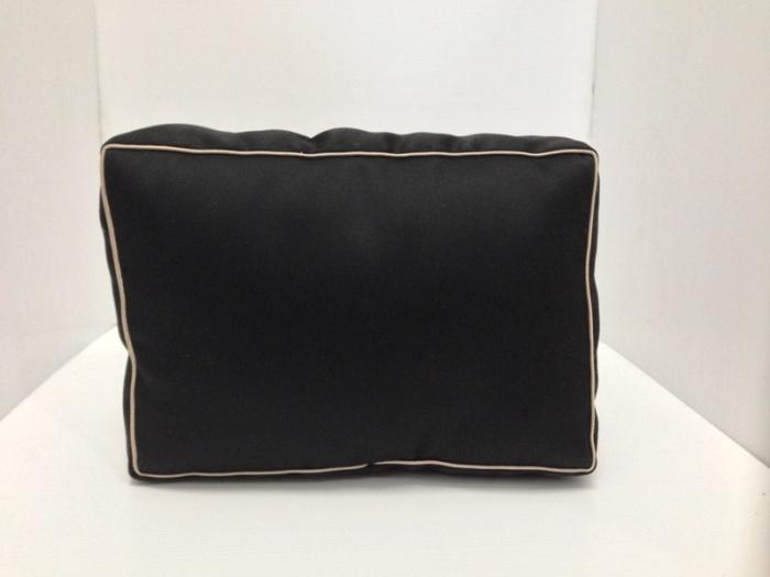 หมอนจัดทรงกระเป๋าPRADA Saffiano 30 2ซิป สีดำ (ราคานี้ยังไม่รวมค่าจัดส่ง)