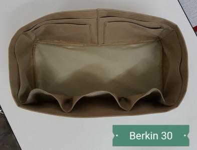 ที่จัดระเบียบกระเป๋า Hermes Berkin 30 สีเบจ