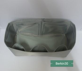 ที่จัดระเบียบกระเป๋า Hermes Berkin 30 สีเทา